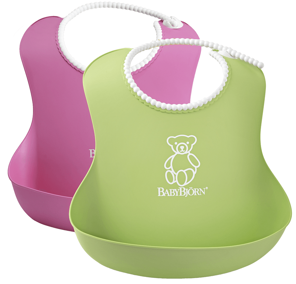 Soft-Bib-2-Pack-Pink-Green-046201-BabyBjorn