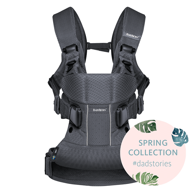 Baby Carrier One Air Dadstories Anthracite BABYBJÖRN