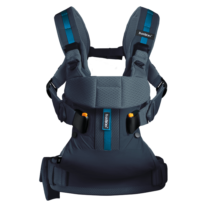BABYBJÖRN Baby Carrier One Outdoors in Dark Blue, perfect for an active lifestyle.