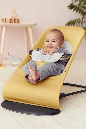 Babysitter Balance Soft Gul Grå Cotton Jersey - BABYBJÖRN