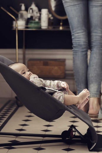 Babywippe Balance Soft Dunkelgrau Grau Cotton/Jersey