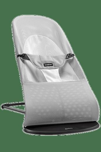 Transat Balance Soft Argent/Blanc en Mesh - BABYBJÖRN