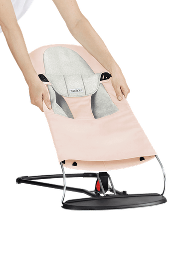 Asiento de tela adicional para Hamaca Balance Soft Rosa Claro/Gris Cotton/Jersey - BABYBJÖRN