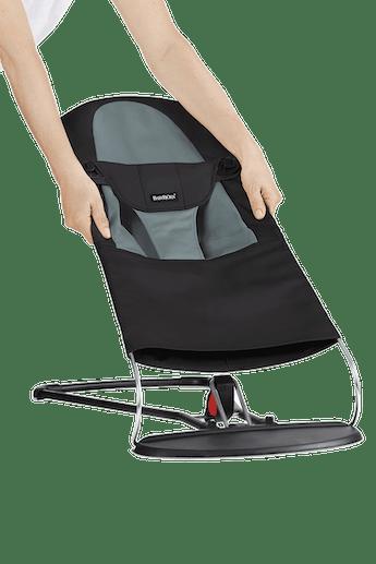 Fabric Seat for Bouncer Balance Soft Black Grey - BABYBJÖRN
