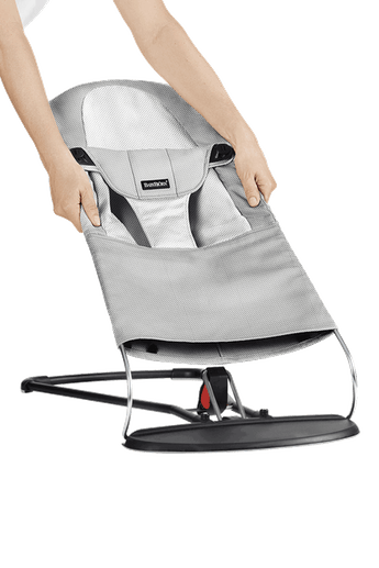 Fabric Seat for Bouncer Balance Soft Silver White Mesh - BABYBJÖRN