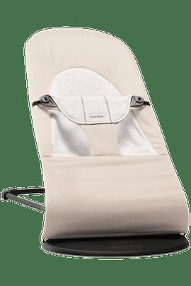 Sdraietta Balance Soft Beige Grigio Cotton Jersey - BABYBJÖRN