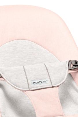 Sedile in Tessuto per Sdraietta Balance Soft Rosa Chiaro Grigio Cotton Jersey - BABYBJÖRN