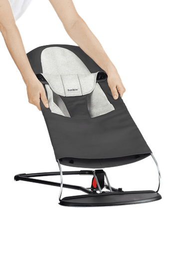 Fabric Seat for Bouncer Balance Soft Darkgrey Grey Jersey - BABYBJÖRN
