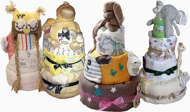 BABYBJÖRN Magazin – Ein Babyparty Geschenk, das alle mögen – eine Windeltorte voller Geschenke.
