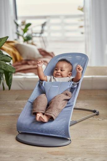 Babywippe Bliss in Schieferblauem Mesh - BABYBJÖRN
