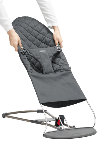 Fabric Seat for Bouncer Bliss Cotton Anthracite Grey - BABYBJÖRN