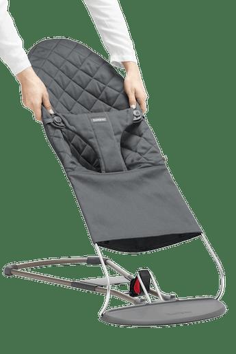 Zusatzlicher Stoffsitz fur Babywippe Bliss Anthrazitgrau Cotton - BABYBJÖRN