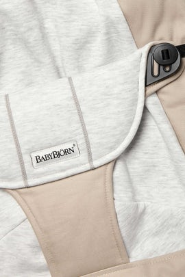 Zusatzlicher Stoffsitz fur die Babywippe Balance Soft Beige Grau Jersey - BABYBJÖRN