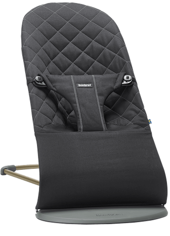 Bouncer Bliss Black Cotton - BABYBJÖRN