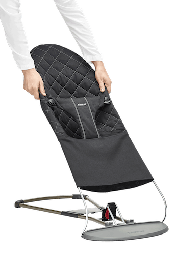 Fabric Seat for Bouncer Bliss Black Cotton - BABYBJÖRN