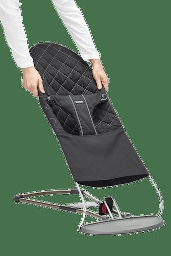 Zusatzlicher Stoffsitz fur Babywippe Bliss Schwarz Cotton - BABYBJÖRN