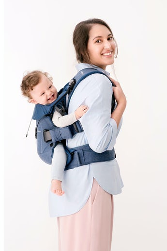 Baby Carrier One i denim blue cotton mix - BABYBJÖRN
