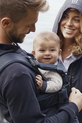 Mochila Porta bebé One Air - Azul Marino - 3D-Mesh - BABYBJÖRN