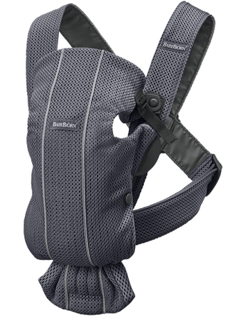 Baby Carrier Mini Anthracite in airy and soft 3D Mesh - BABYBJÖRN