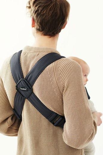 Bärsele Mini i antracitgrå 3D Mesh - hur ser ryggen ut på bärselen - BABYBJÖRN