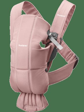 BABYBJÖRN Mochila Porta Bebé Mini Rosa Palo Cotton, ideal para el recién nacido.