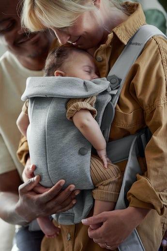 Porte-bébé Mini Gris Clair 3D jersey - BABYBJÖRN