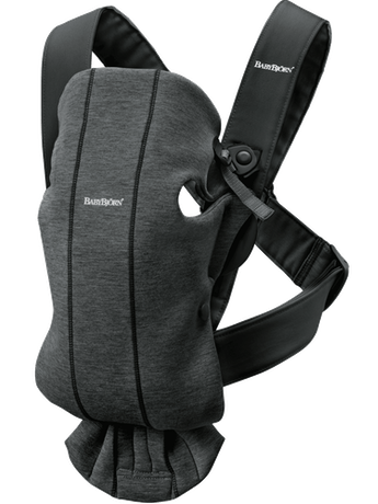 Baby Carrier Mini Charcoal Grey in cosy, airy and soft 3D Jersey - BABYBJÖRN