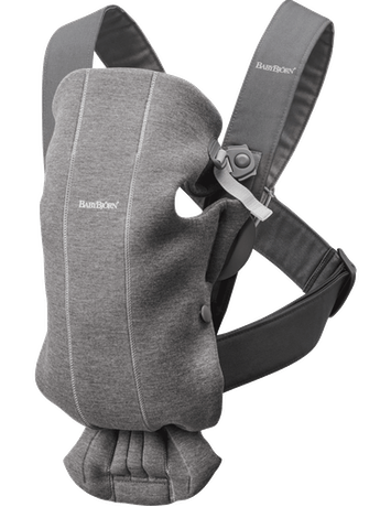 Baby Carrier Mini Dark Grey in cosy, airy and soft 3D Jersey - BABYBJÖRN