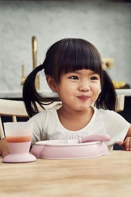 BABYBJÖRN Barnservis i 4 delar - Blekrosa