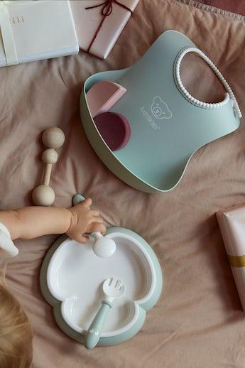 Juego de cubiertos bebé Verde Pastel - BABYBJÖRN