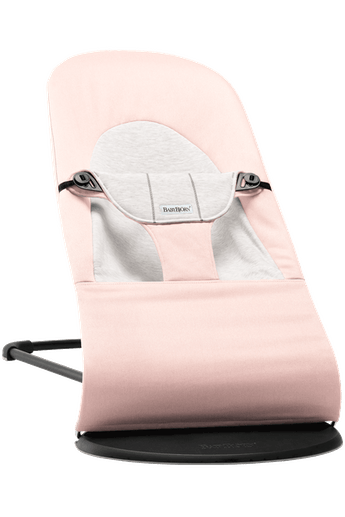 Bouncer Balance Soft Light Pink Grey Cotton Jersey - BABYBJÖRN