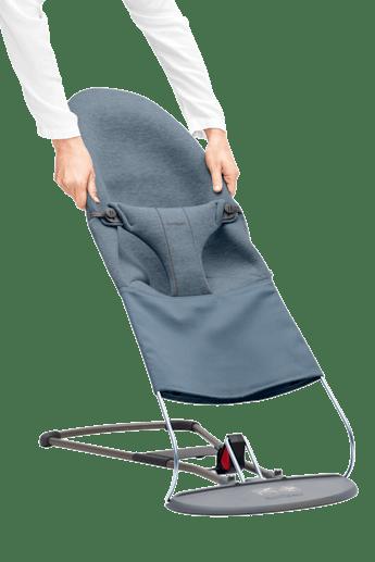 Extra tygsits till Babysitter Bliss i supermjuk Duvblå 3D Jersey - BABYBJÖRN