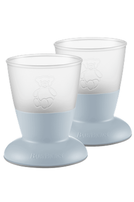 Baby Cup, 2-pack Powder Blue - BABYBJÖRN