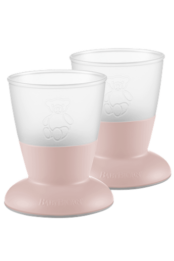 Baby Cup, 2-pack Powder Pink - BABYBJÖRN