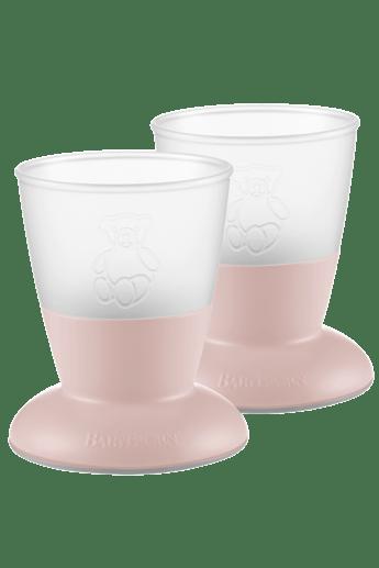 Baby Cup Powder Pink 2-pack - BABYBJÖRN
