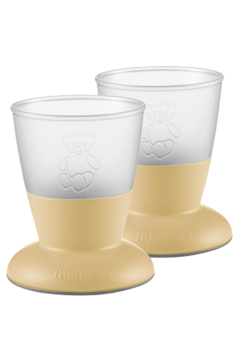 Baby Cup Powder Yellow 2-pack - BABYBJÖRN
