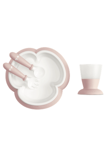 Baby Feeding Set Powder Pink in BPA-free plastic - BABYBJÖRN