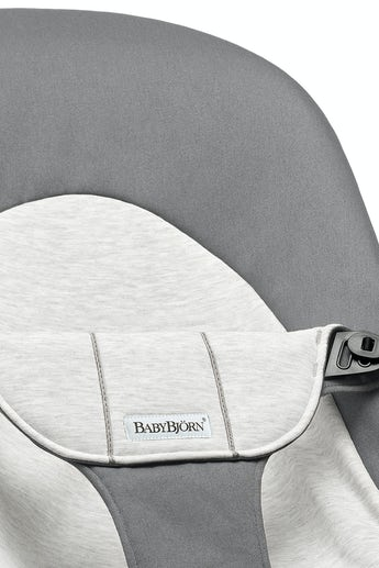 Asiento de tela adicional Hamaca Balance Soft Gris Claro y Gris Oscuro Jersey Algodón - BABYBJÖRN
