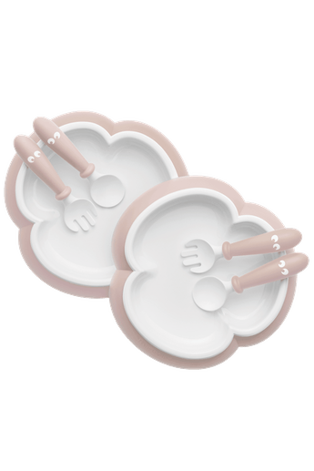 Assiette, Cuillère et Fourchette pour Bébé Rose Pastel - BABYBJÖRN
