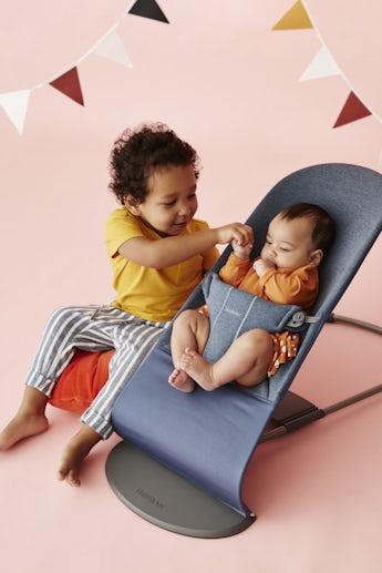 Baby Bouncer Bliss Doveblue 3D Jersey - BABYBJÖRN
