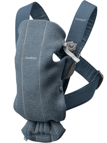 BABYBJORN Baby Carrier Mini, Dove blue 3D Jersey