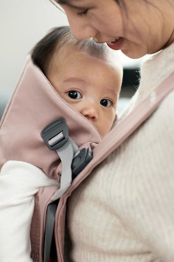 BABYBJORN Baby Carrier Mini, Dusty pink, Cotton