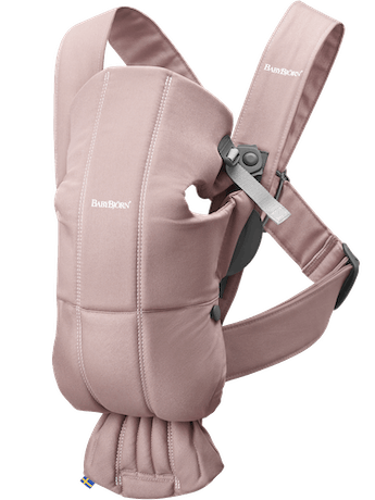 Baby Carrier Mini Dusty Pink Cotton - BABYBJÖRN