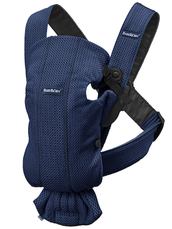 BABYBJORN Baby Carrier Mini, Navy Blue, 3d Mesh
