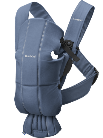 BABYBJORN Baby Carrier Mini, Vintage indigo, Cotton