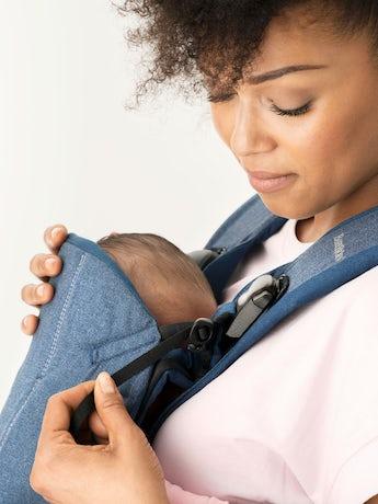 BABYBJORN Baby Carrier One, Classic Denim / Midnight Blue, Cotton