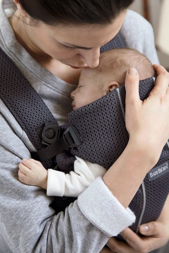 Babytrage Mini Anthrazitgrau 3D Mesh - BABYBJÖRN