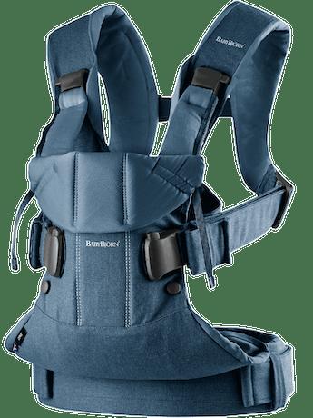 Babytrage One Air Classic Jeans Mitternachtsblau Baumwolle - BABYBJÖRN