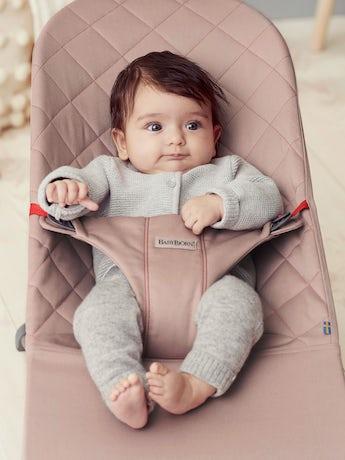 Babywippe Bliss in Altrosa Baumwolle - BABYBJÖRN