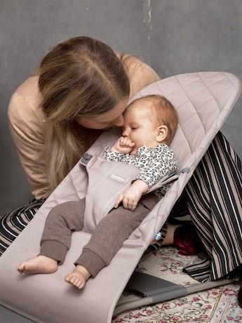 Babywippe Bliss Sandgrau Baumwolle - BABYBJÖRN